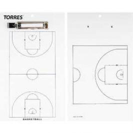 Тактическая доска для баскетбола Torres TR1003B, белая
