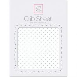Детская простынь SwaddleDesigns Fitted Crib Sheet SeaCrystal Dot (SD-150SC)