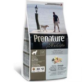 Сухой корм Pronature Holistic Adult Dog Skin&Coat Atlantic Salmon & Brown Rice с лососем и рисом для кожи и шерсти для собак 13,6кг (102.2007)