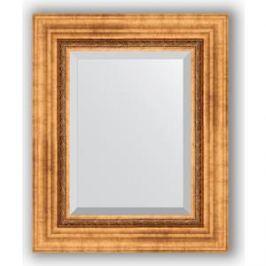 Зеркало с фацетом в багетной раме Evoform Exclusive 46x56 см, римское золото 88 мм (BY 3360)