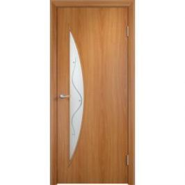 Дверь VERDA Тип С-6(Ф) остекленная 1900х600 МДФ финиш-пленка Миланский орех