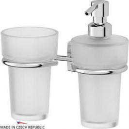 Держатель со стаканом и емкостью для жидкого мыла FBS Esperado хром (ESP 008)