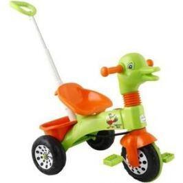 Трехколесный велосипед Pilsan Ducky с родительской ручкой цвет зелено-оранжевый (07-141)