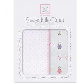 Набор пеленок SwaddleDesigns Swaddle Duo PK Peace/LV/SW (SD-185P)