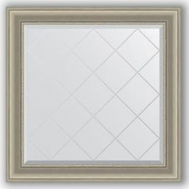 Зеркало с гравировкой Evoform Exclusive-G 86x86 см, в багетной раме - хамелеон 88 мм (BY 4321)