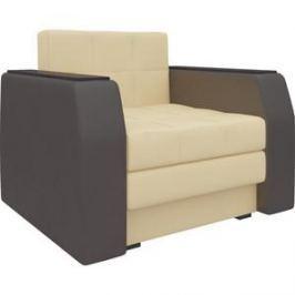 Кресло-кровать АртМебель Атлант эко-кожа бежево-коричневый