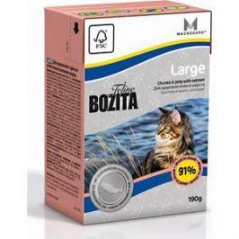 Консервы BOZITA Large Chunks in Jelly with Salmon кусочки в желе с лососем здоровая кожа и шерсть для кошек крупных пород 190г (2165)