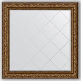 Зеркало с гравировкой Evoform Exclusive-G 110x110 см, в багетной раме - виньетка состаренная бронза 109 мм (BY 4470)