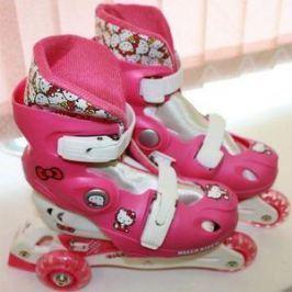 Раздвижные трехколесные роликовые коньки Hello Kitty 2541