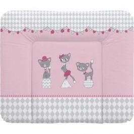 Матрас пеленальный Ceba Baby (Себа Беби) 70*85 см мягкий на комод Cats pink W-134-069-130