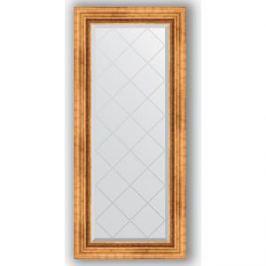 Зеркало с гравировкой поворотное Evoform Exclusive-G 56x126 см, в багетной раме - римское золото 88 мм (BY 4060)