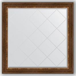 Зеркало с гравировкой Evoform Exclusive-G 106x106 см, в багетной раме - римская бронза 88 мм (BY 4449)