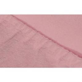 Простыня Ecotex махровая на резинке 140х200х20 см (ПРМ14 розовый)