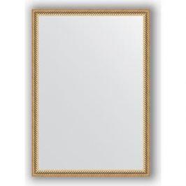 Зеркало в багетной раме поворотное Evoform Definite 48x68 см, витое золото 28 мм (BY 0623)