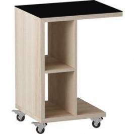 Журнальный стол MetalDesign Смарт MD 741.05.01 корпус-ясень светлый/ стекло-черный