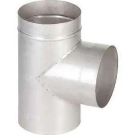 Тройник Феникс дымоходный 115 мм угол 90 градусов (1.0 нерж.мат.)(00917)