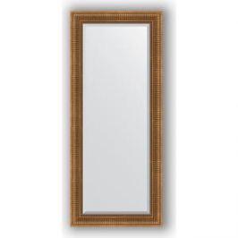 Зеркало с фацетом в багетной раме поворотное Evoform Exclusive 67x157 см, бронзовый акведук 93 мм (BY 3570)