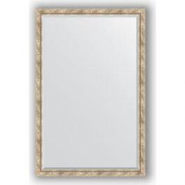 Зеркало с фацетом в багетной раме поворотное Evoform Exclusive 113x173 см, прованс с плетением 70 мм (BY 3615)