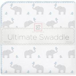 Фланелевая пеленка SwaddleDesigns для новорожденного PB Elephants/Chicks (SD-460PB)