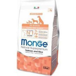 Сухой корм Monge Speciality Line Puppy and Junior All Breed Salmon and Rice с лососем и рисом для щенков всех пород 2,5кг