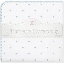 Фланелевая пеленка SwaddleDesigns для новорожденного BL/Sterling Lt Dot (SD-412PB)