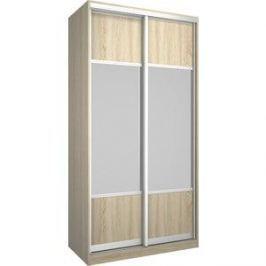 Шкаф Премьер Бостон 1100/1 Дуб Сонома Зеркало+Зеркало