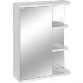 Зеркальный шкаф Меркана керса 01 55 см слева белое (7652)
