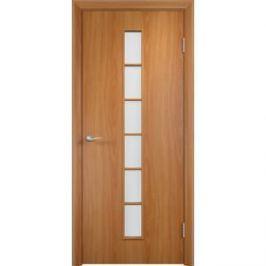 Дверь VERDA Тип С-12(о) остекленная 1900х600 МДФ финиш-пленка Миланский орех