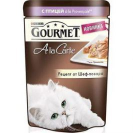 Паучи Gourmet A la Carte с птицей Provencale рецепт от шеф-повара для кошек 85г (12266707)