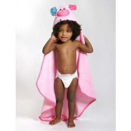 Zoocchini Полотенце с капюшоном для малышей (0-18m) (Свинка Пигги) Pinky the Piglet) (00555)