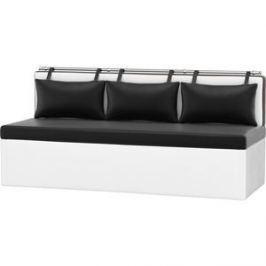 Кухонный диван АртМебель Метро эко-кожа черно-белый