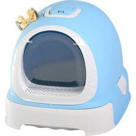 Туалет Makar бокс голубой с выдвижным поддоном для кошек 55х42х43 см (МАК101)