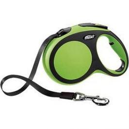 Рулетка Flexi New Comfort L лента 5м черный/зеленый для собак до 60кг