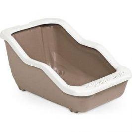 Туалет MPS NETTA Open с рамкой коричневый 54x39x29h см для кошек