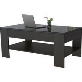 Стол журнальный Мебелик BeautyStyle 26 венге/стекло черное