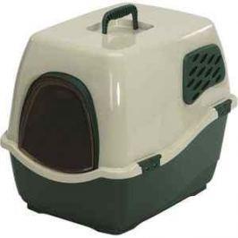 Био-туалет Marchioro BILL 2F зелено-бежевый 57x45x48h см для кошек