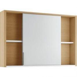 Зеркальный шкаф Edelform Уника 100, белый с дуб гальяно (2-741-45-S)