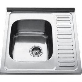 Кухонная мойка Kaiser Classic накладная 60x60, толщина 0.8 мм левая (KSS-6060L)