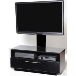 Тумба под телевизор Allegri Бриз 1 1250 с плазмастендом черный глянец каркас черный стекло черн