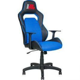 Кресло Алвест AV 140 PL (682 T) МК экокожа 223 черная/ TW сетка 452 синяя