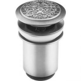 Донный клапан ZorG Antic для раковины матовое серебро (AZR 2 SL)