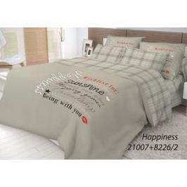 Комплект постельного белья Волшебная ночь 2-х сп, ранфорс, Happiness с наволочками 50x70 (702218)