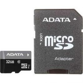 Карта памяти A-Data microSDHC 32Gb Class10 UHS-I, SD adapter (AUSDH32GUICL10-RA1)