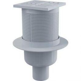Душевой трап AlcaPlast 105х105/50, подводка - прямая, гидрозатвор - мокрый (APV6111)