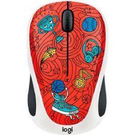 Мышь Logitech M238 Doodle Collection CHAMPION CORAL