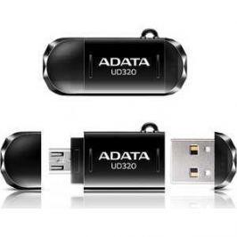 Флеш накопитель A-Data 64GBDashDrive UD320 OTG USB 2.0/MicroUSB Черный (AUD320-64G-RBK)