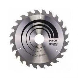 Диск пильный Bosch 184х30мм 24зуба Optiline Wood (2.608.640.610)
