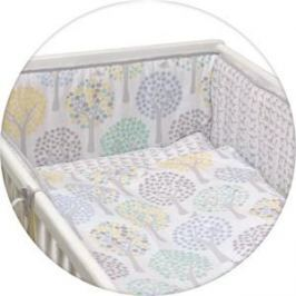 Постельное белье Ceba Baby 3 пр. Magic Tree blue Lux принт W-800-072-160-1 (Э0000016405)