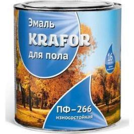 Эмаль для пола KRAFOR ПФ-266 износостойкая красно-коричневая 20кг.