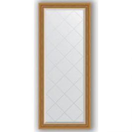 Зеркало с гравировкой поворотное Evoform Exclusive-G 63x153 см, в багетной раме - состаренное золото с плетением 70 мм (BY 4131)